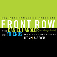 "<b style=""color:#287b9e;"">Front Row with Daniel Handler and Friends</b>"