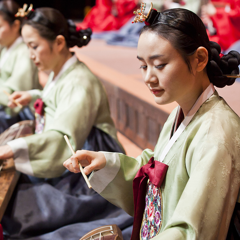 "<font color=""#287b9e""><b>Korean National Gugak Center Creative Traditional Orchestra; Traditional Korean Court and Folk Music</b></font>"