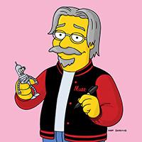 "<font color=""#287b9e""><b>Matt Groening and Lynda Barry; <i>Love, Hate & Comics–The Friendship That Would Not Die</i></b></font>"