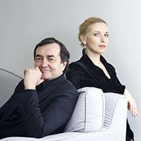 "<font style=""color:#1294d8;""><b>Pierre-Laurent Aimard and Tamara Stefanovich, <i>pianos</i></b></font>"