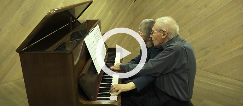 Márta and György Kurtág, piano