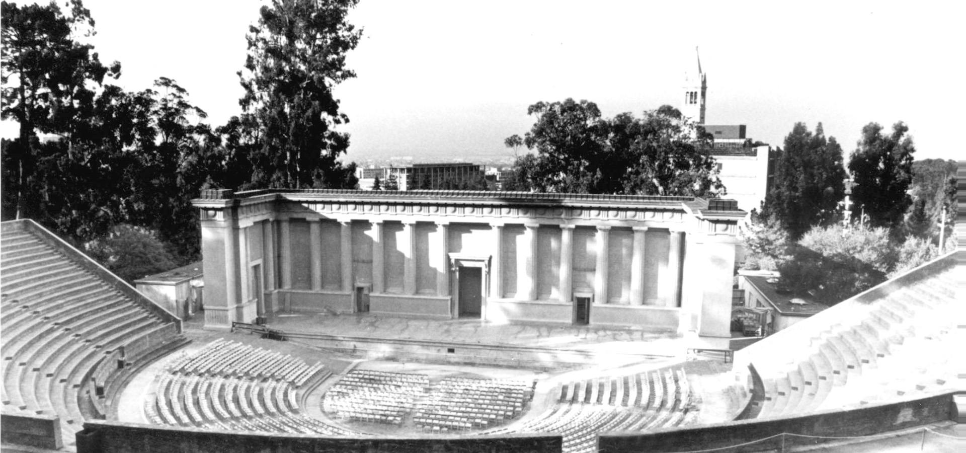 Greek theatre in black and white