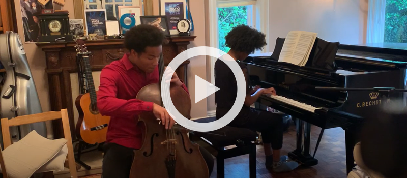"""Sheku & Isata Kanneh-Mason performing """"The Swan"""" from Le carnaval des animaux"""