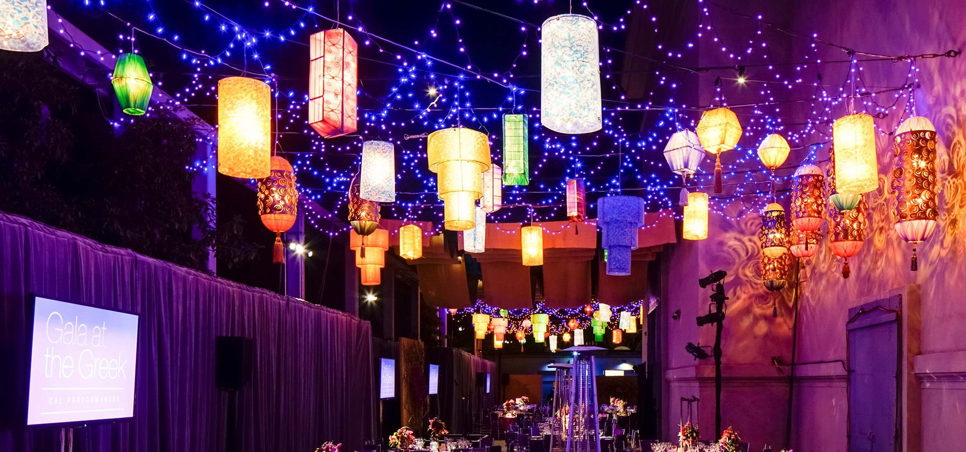 Lanterns at Gala at the Greek