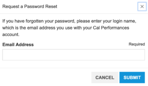 Account password reset