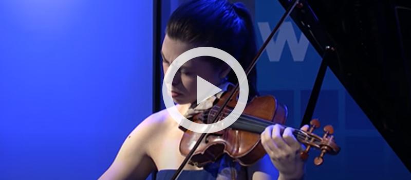 Violinist Tessa Lark performing Telemann's Fantasia No. 7 in E-flat major, TWV 40:20