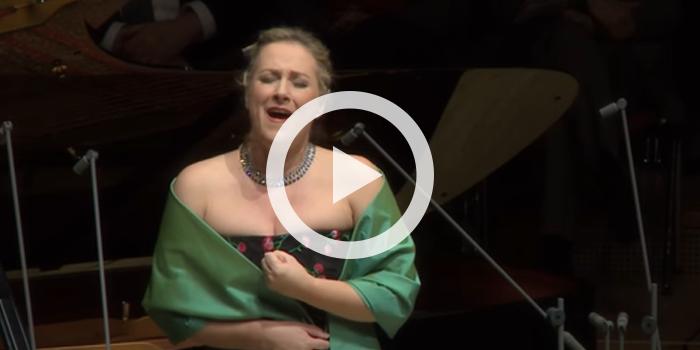 """Soprano Diana Damrau performs Wolf's """"Auch kleine Dinge"""" from Italienisches Liederbuch"""