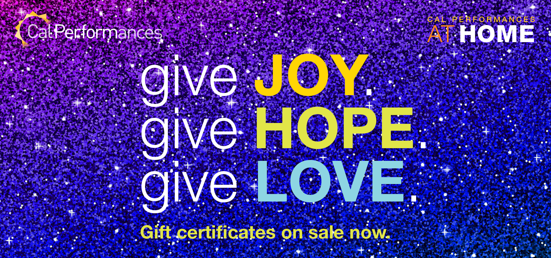 Give Joy. Give hope. Give Love.
