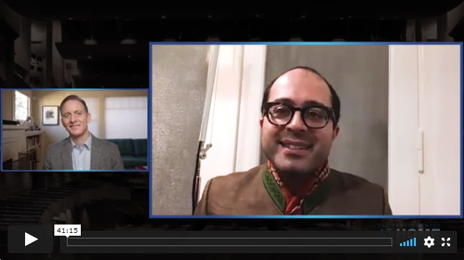 Mahan Esfahani and Jeremy Geffen in conversation