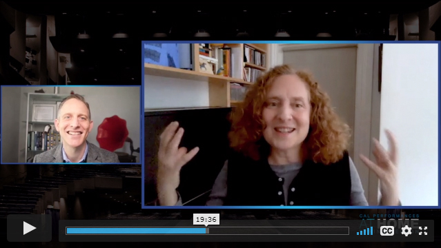 Julia Wolfe and Cal Performances Executive and Artistic Director Jeremy Geffen Artist Conversation