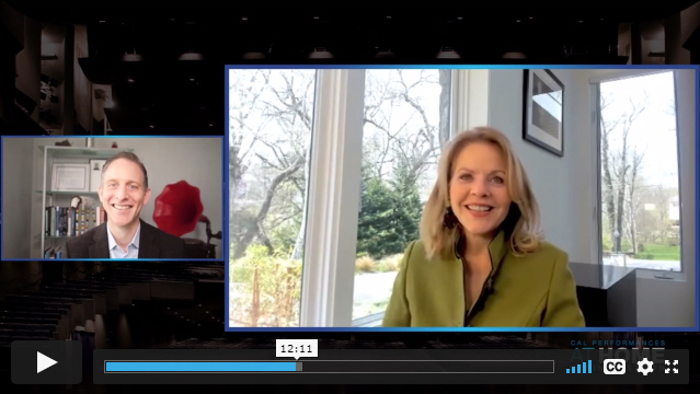 Renee Fleming and Cal Performances Executive and Artistic Director Jeremy Geffen Artist Conversation