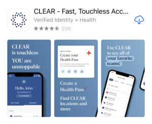 Health Pass by CLEAR app