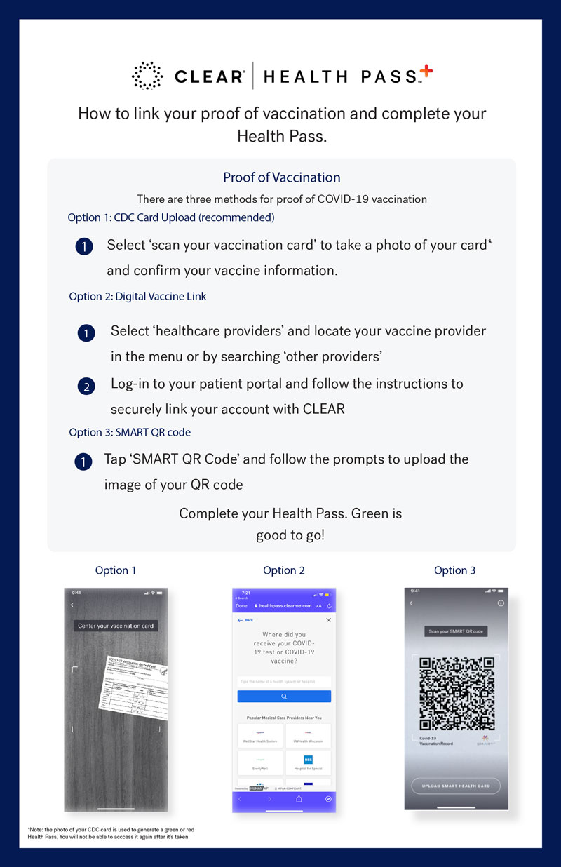CLEAR Health Pass Instructions for Zellerbach Hall